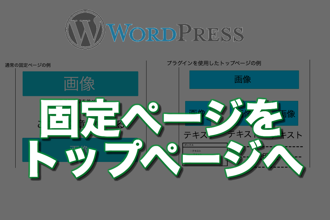 WordPressの固定ページをトップページに持って来てサイト型にする方法